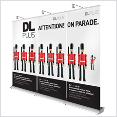 DL Plus Linkable Pull up Banner Stand