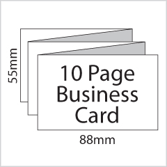 10 Page Mini Leaflet Business Cards
