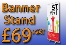 STart pull up banner stands- Only £69+VAT