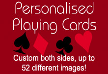 Personalised Playing Cards now available